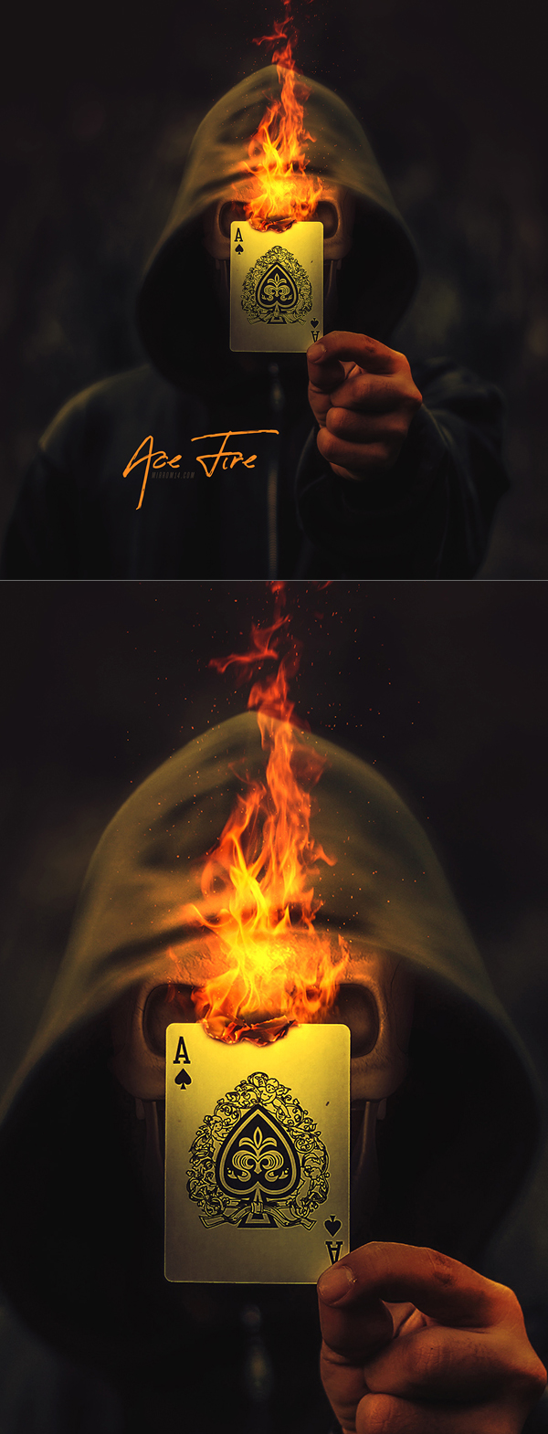How to Create Ace Fire Photo Manipulation Photoshop Tutorial