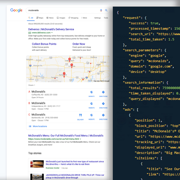 Serpstack API Search Result