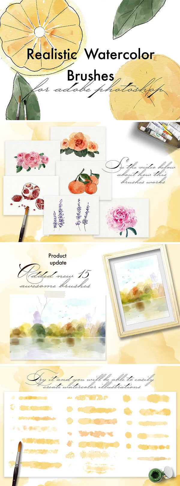 Realistic Watercolor Brushes