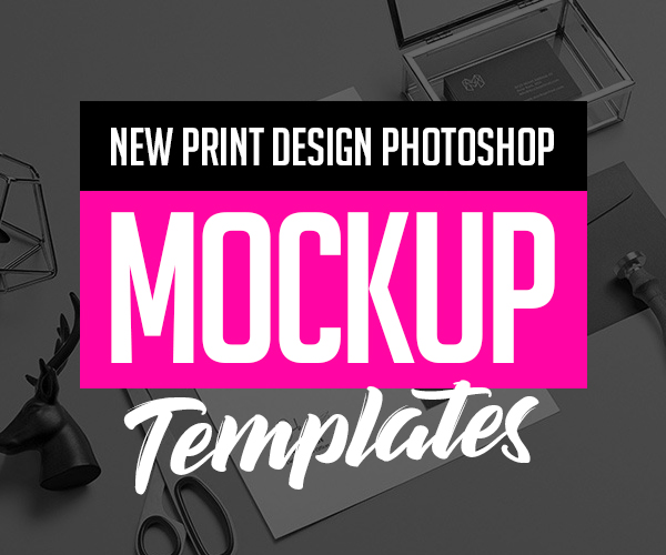 26 New Premium PSD Mockups for Print Design
