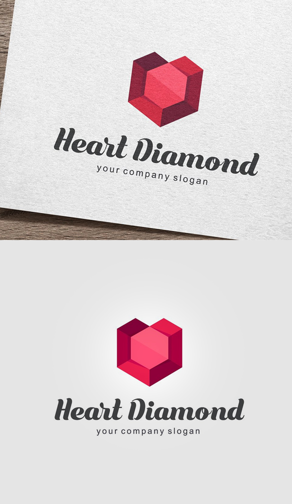 Heart Diamond Logo - 23