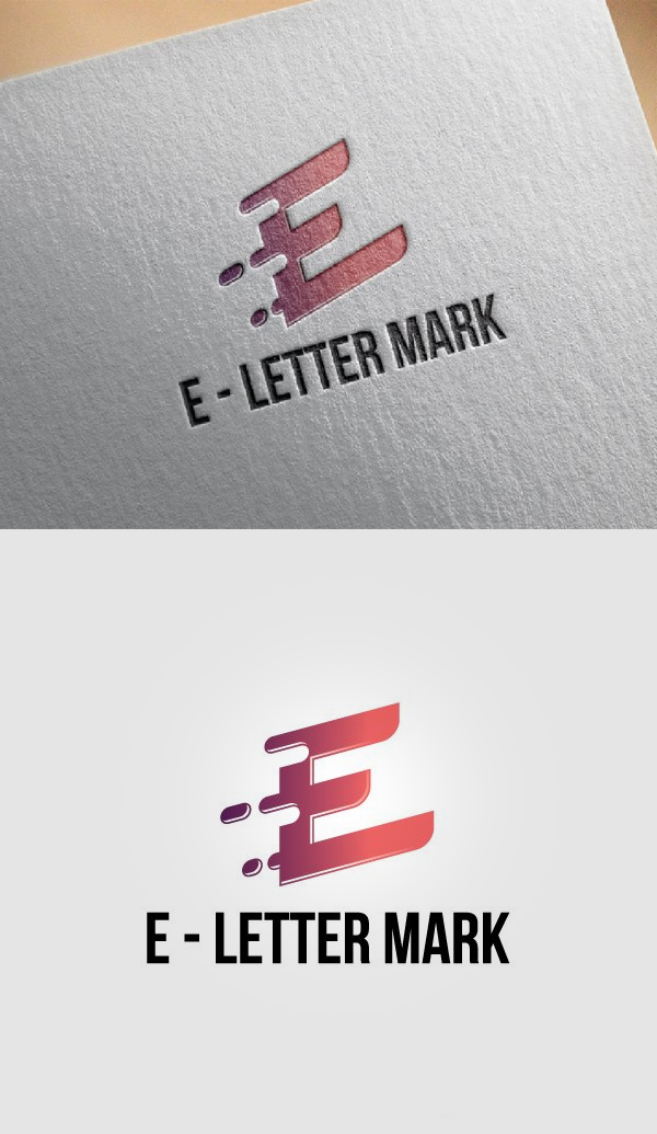 E - Letter Mark Business Strategy - 28