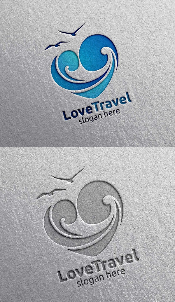 Travel and Tourism logo with Love - 29