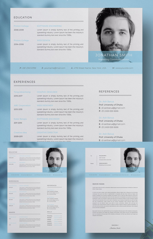 Clean Resume/Cv With MS Word Format