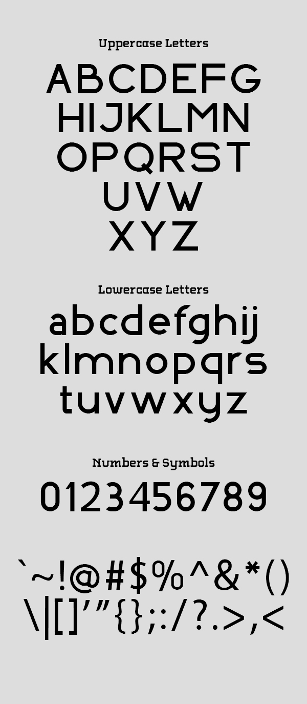 Indoscreen Font Letters