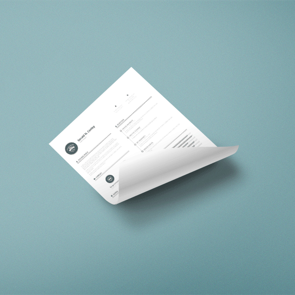 Free Curled A4 Paper Mock-up