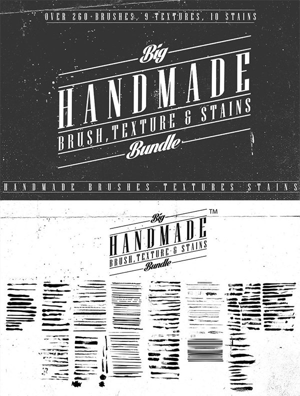 Brushes Textures Stains Bundle