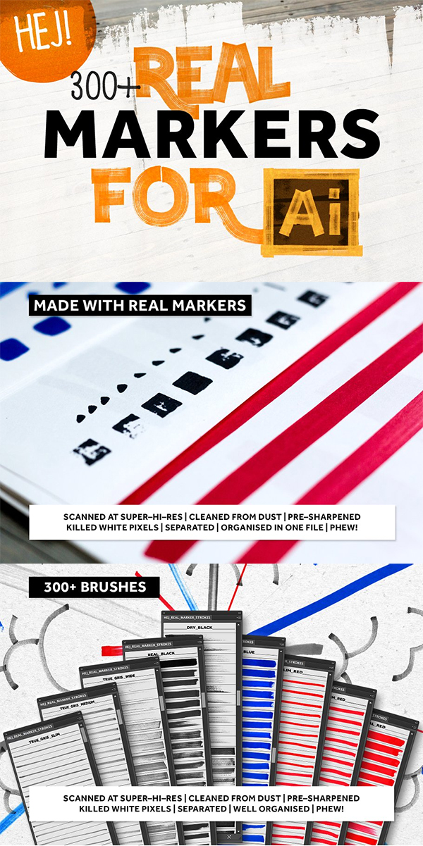Real Markers For Illustratior