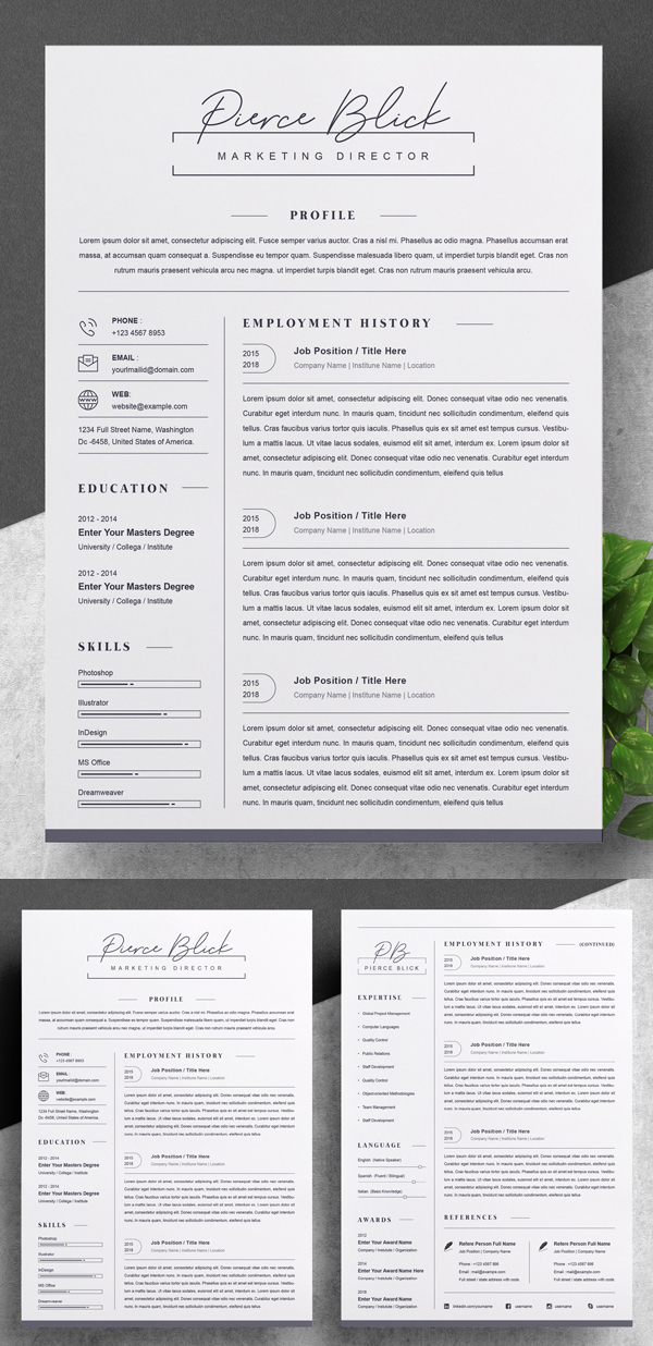 Awesome Clean Resume / CV Template