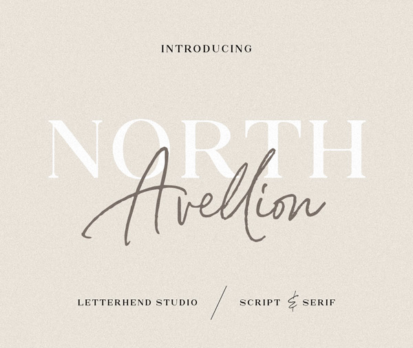 North Avellion Font Duo Free Font