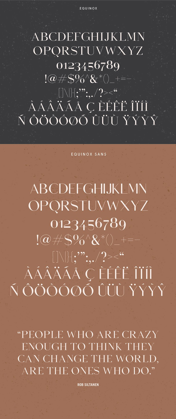 Equinox Free Font Letters
