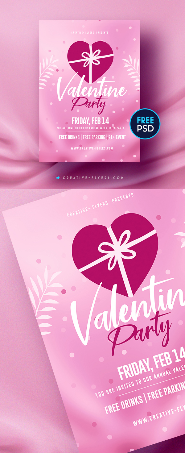 Free Flyer PSD For Love and Valentines Day