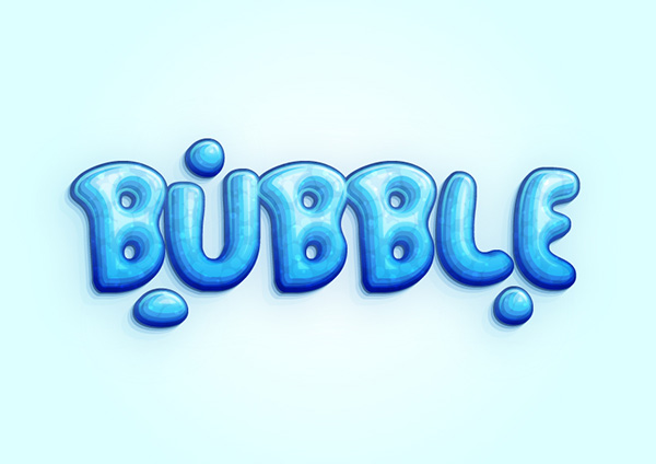 How to Create a Cool Bubble Font Text Effect