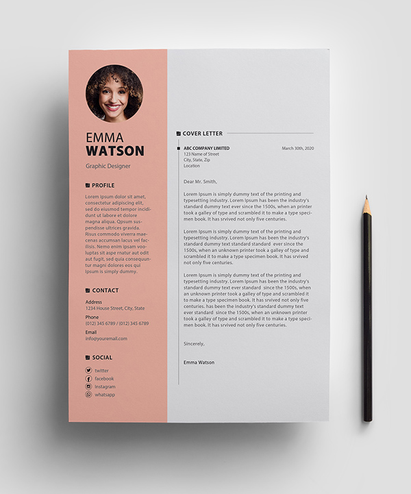 Free Resume Template PSD View - 3