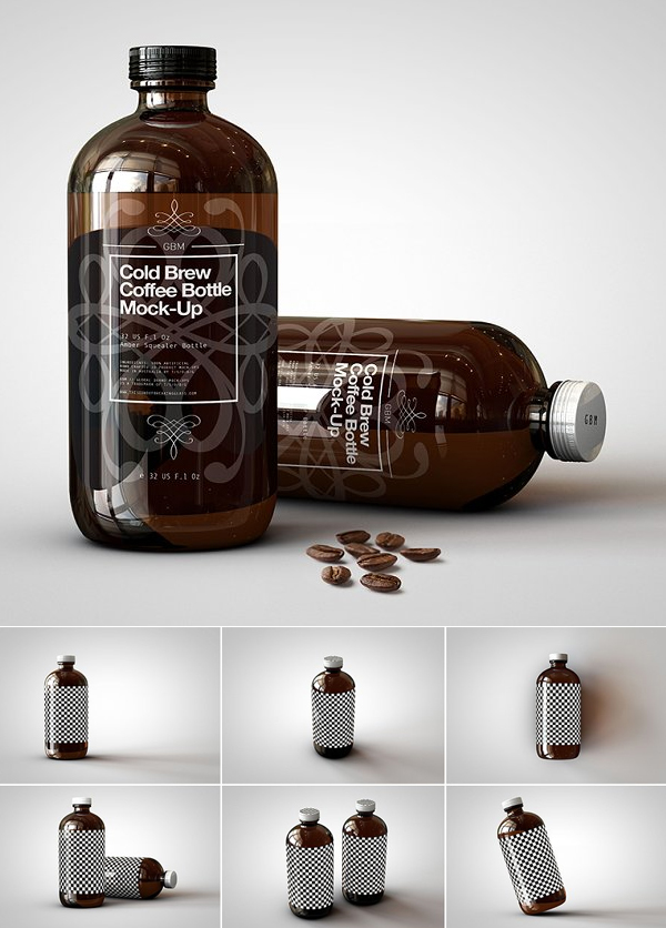 Cold Brew Coffee Bottle Mockup