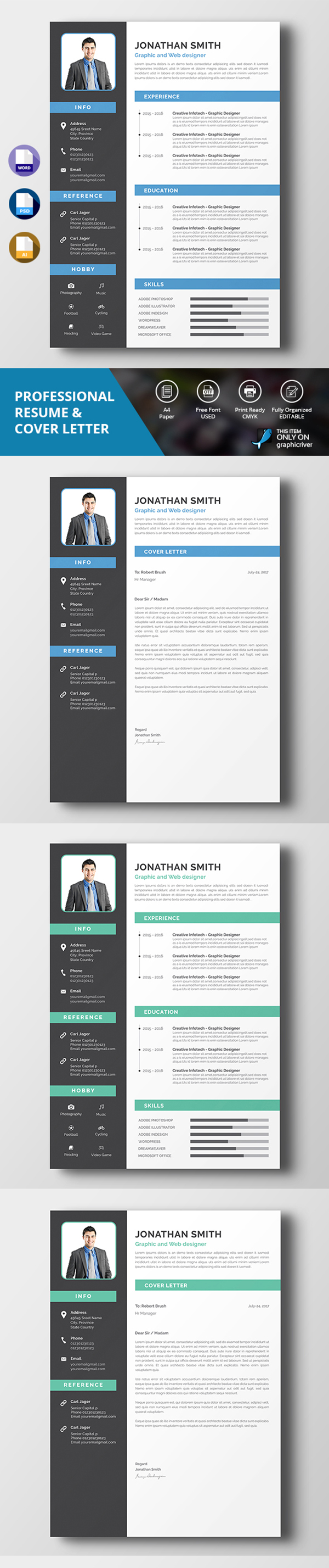 Simple Resume & Cover Letter