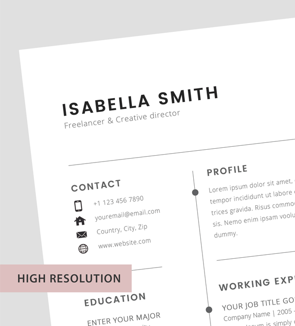 Free Resume Template 3 Page – CV Template - 1
