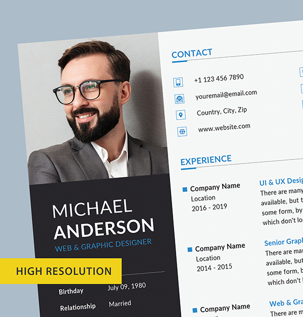 Free Resume + Cover Letter Templates (PSD) - 7