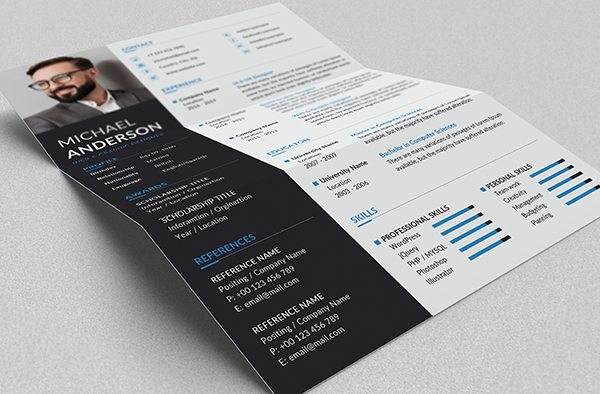 Free Resume + Cover Letter Templates (PSD) - 8