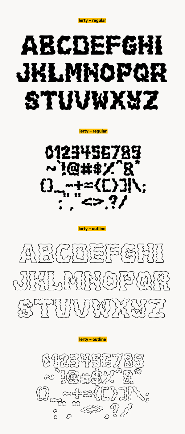 Lerty Free Font Letters