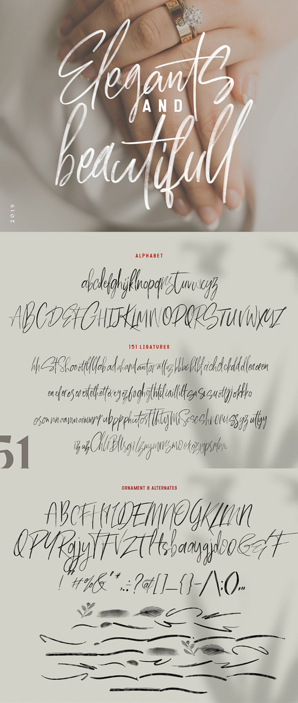 Milles Calligraphy Free Font Letters