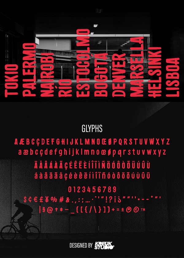 Residu Free Font Letters