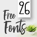 Post Thumbnail of 26 Fresh Free Fonts for Graphic Designers