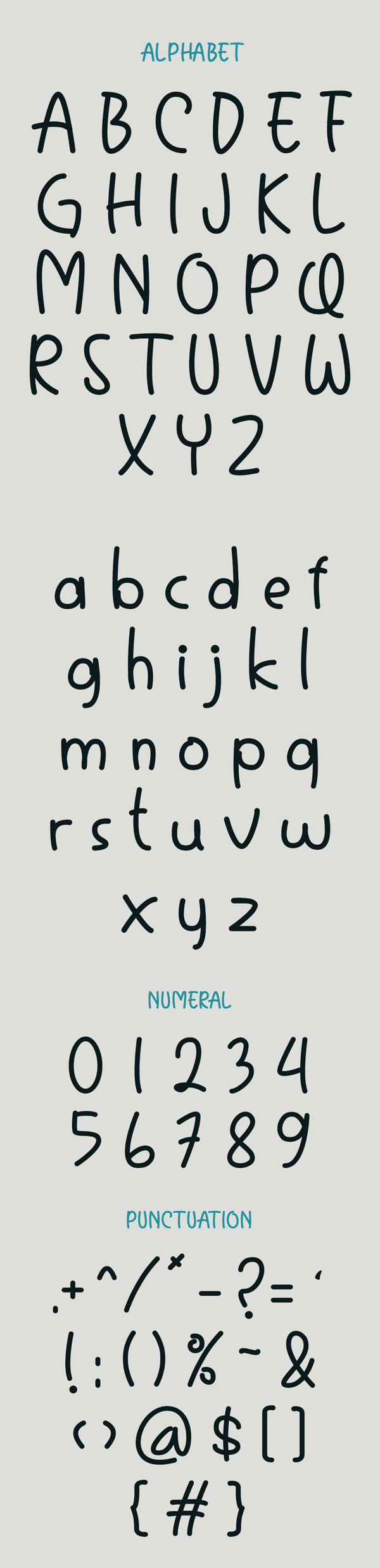 Tomodachy Free Font Letters