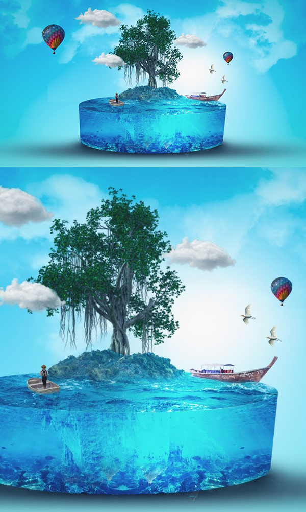 How to Create Tree 3D Effect Photoshop Manipulation And Concept Art Tutorial