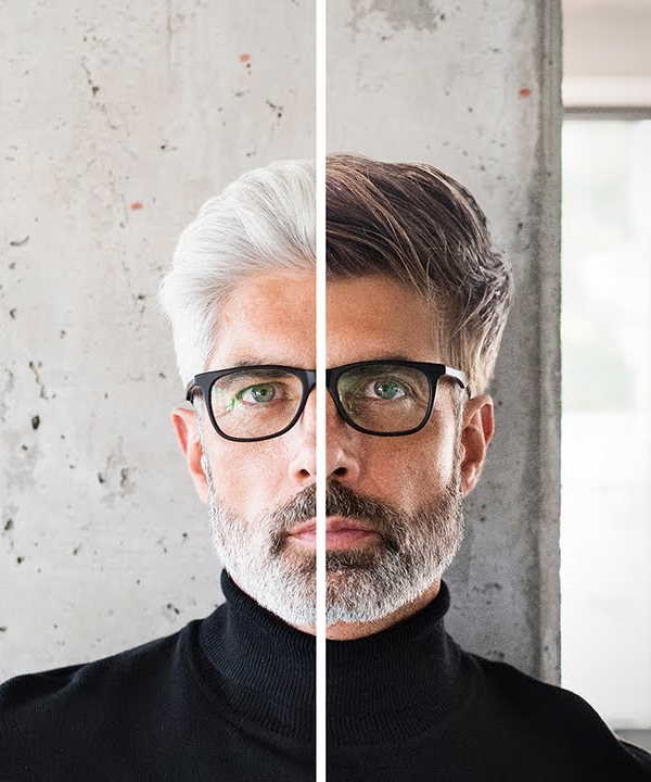 Learn How to Replace White Hair to Dark in Photoshop Tutorial