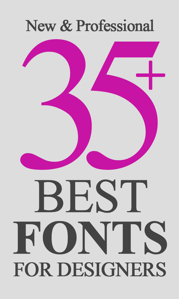 35+ Best Hand-Picked Fonts For Graphic Designers