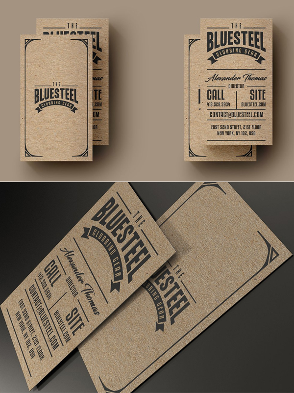 Typography Kraft Paper Business Card