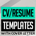 Post thumbnail of 21 Clean CV / Resume Templates with Cover Letter