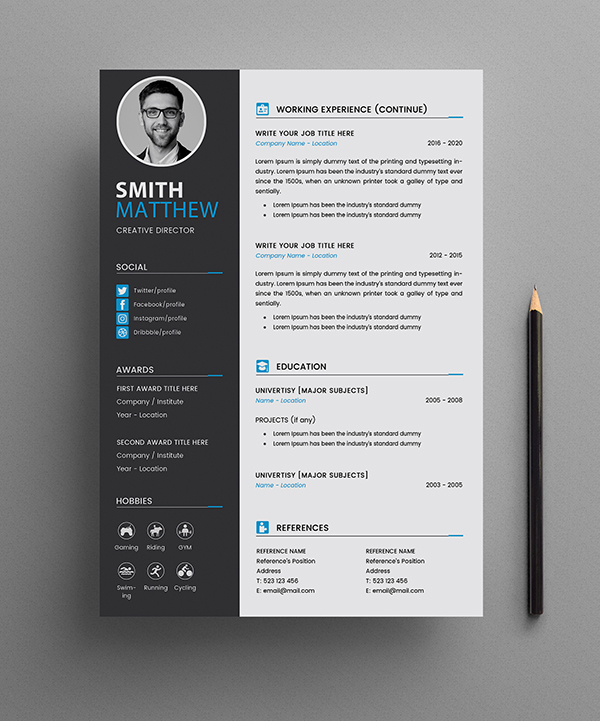 Free CV Resume Templates Page 2