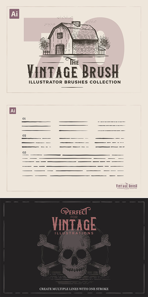Vintage Illustrator Brushes