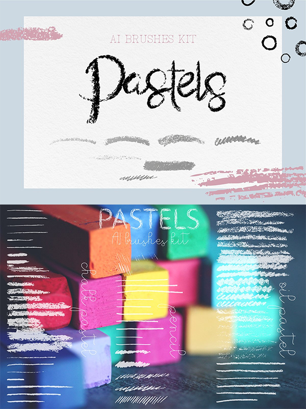 Pastel Brushes kit for AI