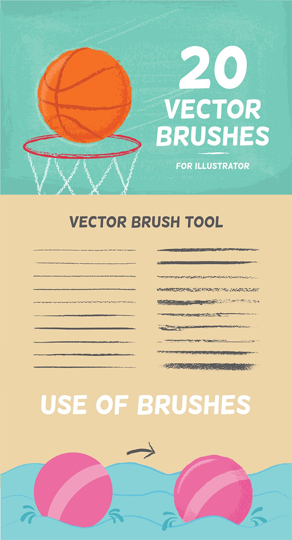 Awesome Vector Brushes Set