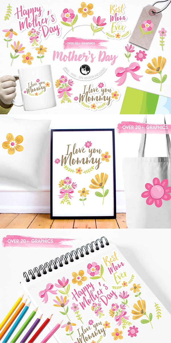Mother's Day Illustration Pack