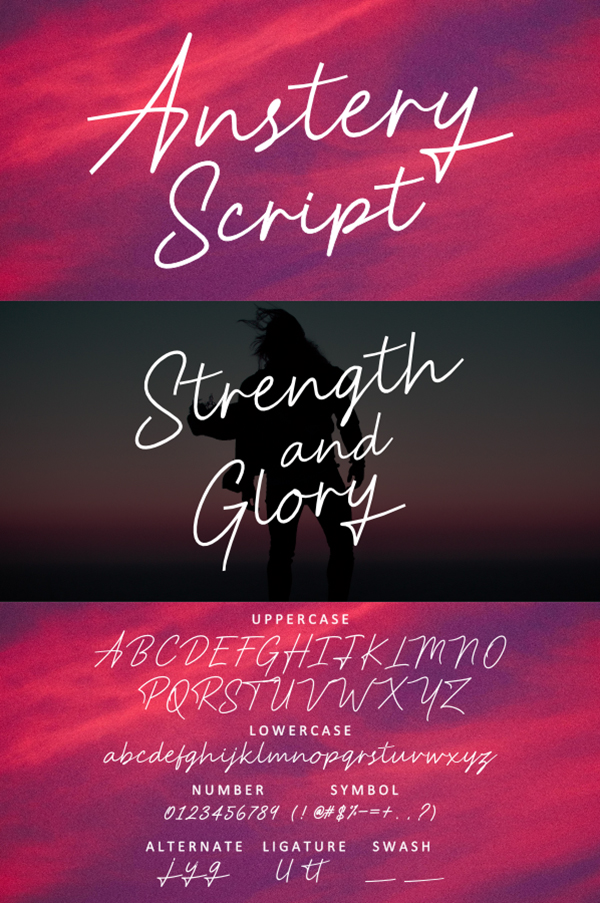 Anstery Script Free Font