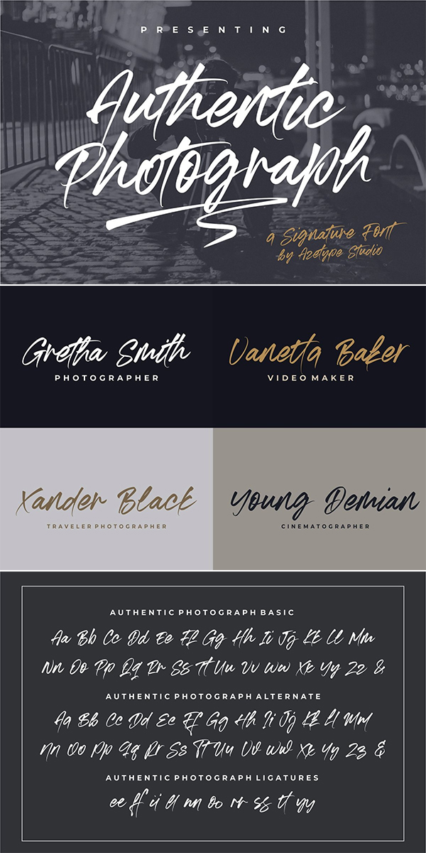 Authentic Photograph Font