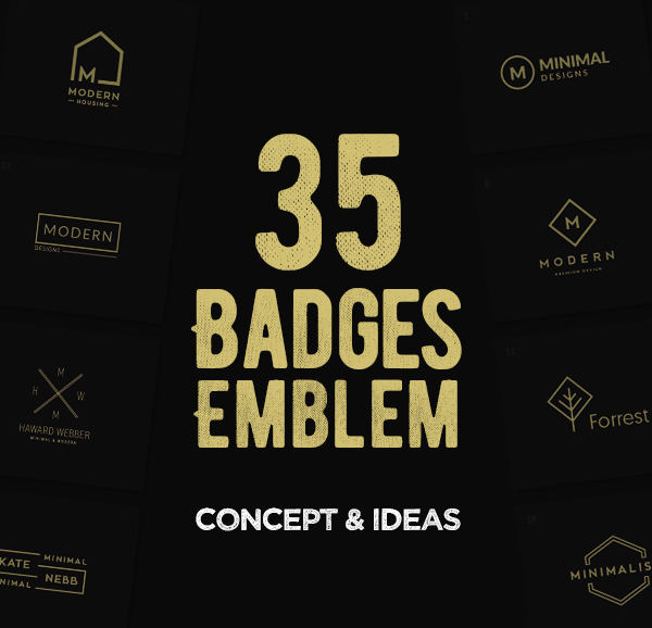 35 Creative Badges & Emblems Designs For Inspiration