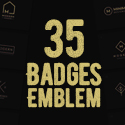 Post Thumbnail of 35 Creative Badges & Emblems Designs For Inspiration