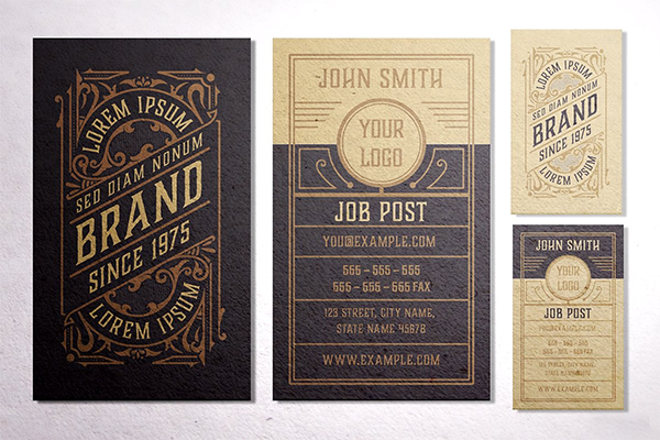 Vintage Business Card Layout