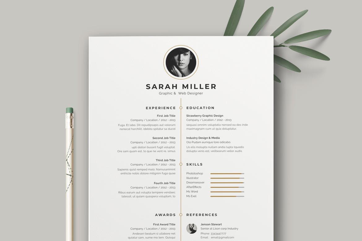 Resume Template CV Simple