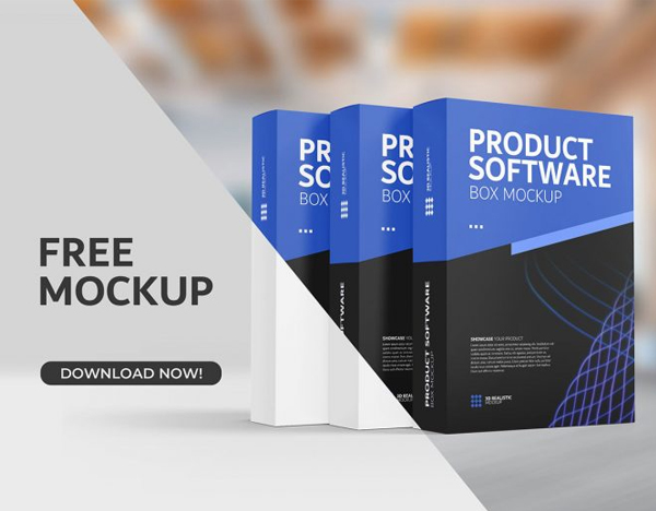 Free Product Package Boxes Mockup