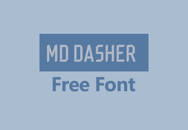 MD Dasher Free Font