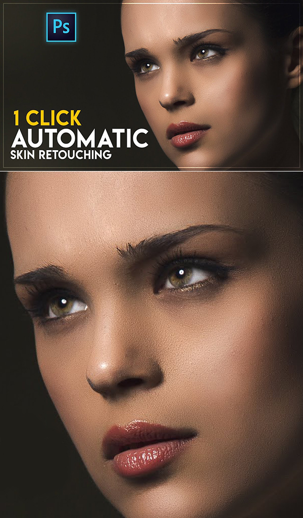 How to fastest Automatic Skin Retouching Actions Free in Photoshop CC