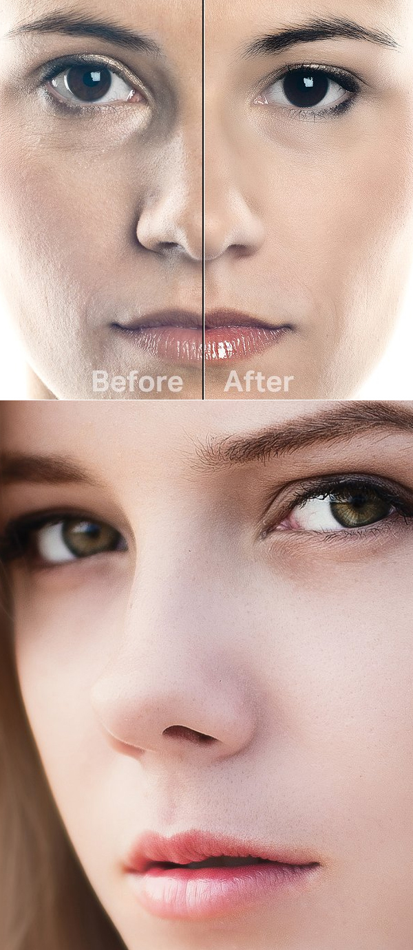 Skin Retouching Actions for Photoshop