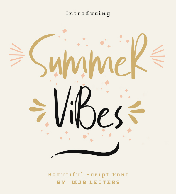 Summer Vibes Free Font