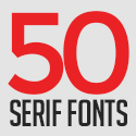 Post thumbnail of 50 Modern Serif Fonts For Graphic Designers